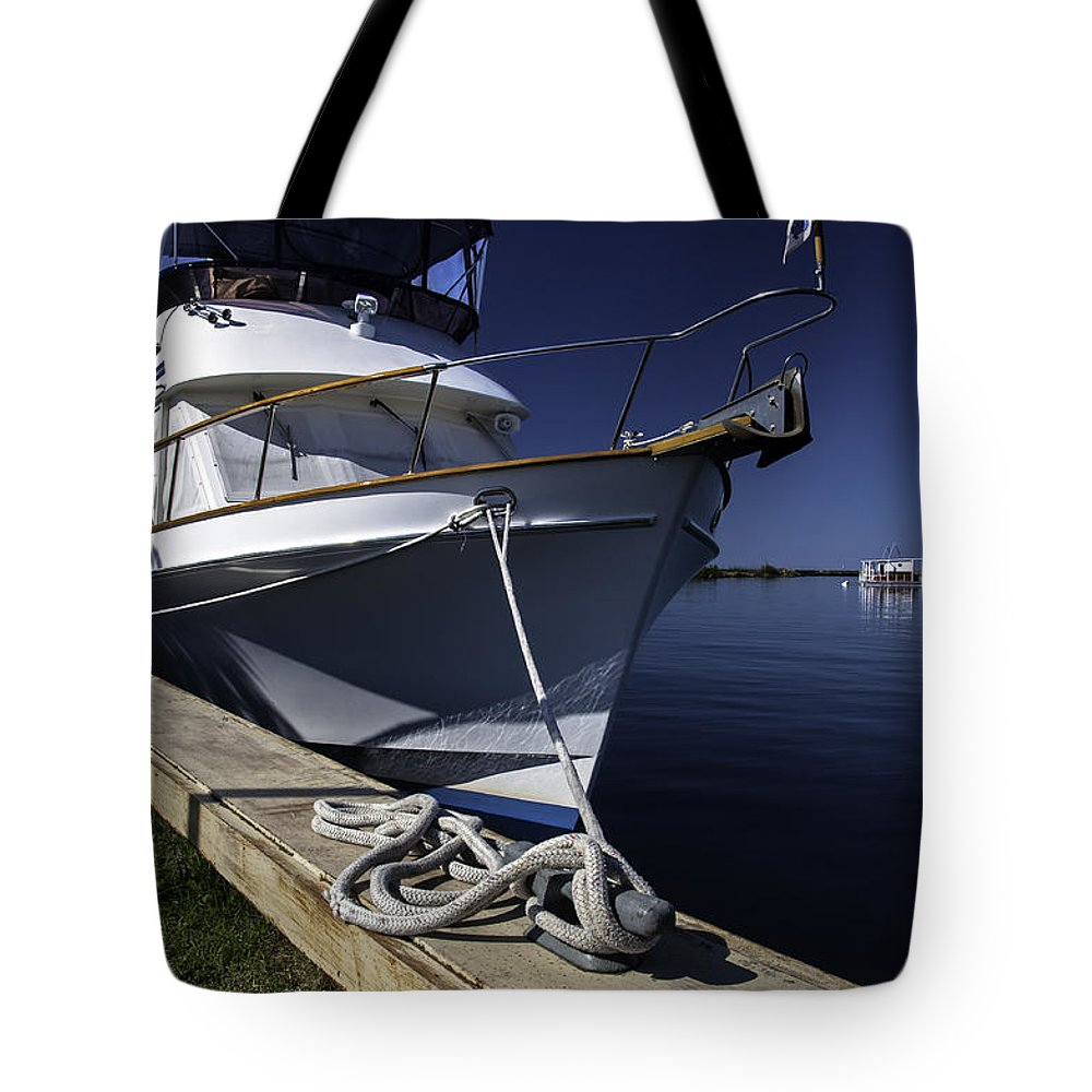 Sailboat Tote Bag featuring the photograph Large Sailboat by Lonnie Paulson