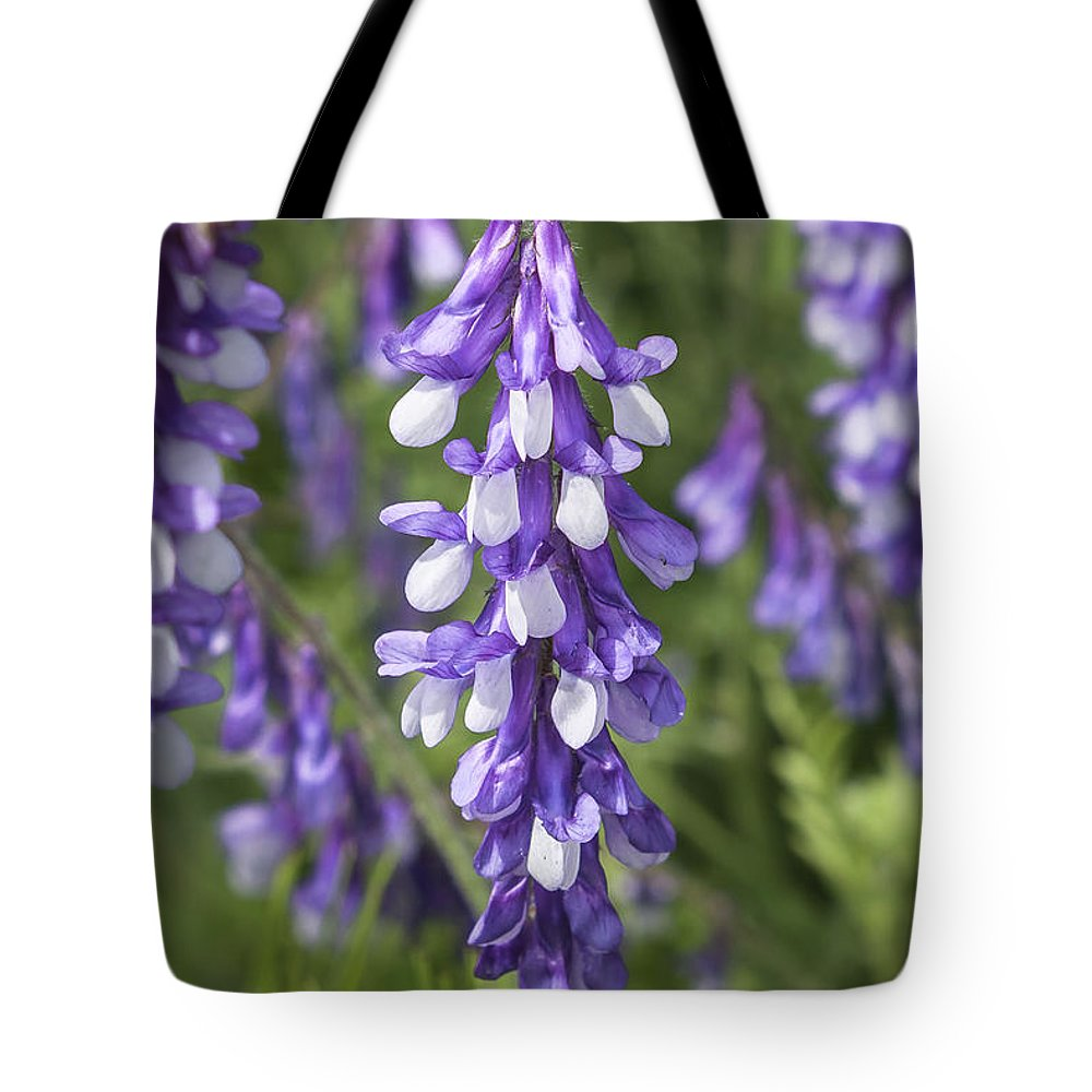 California Tote Bag featuring the photograph Larkspur by Jim Thompson