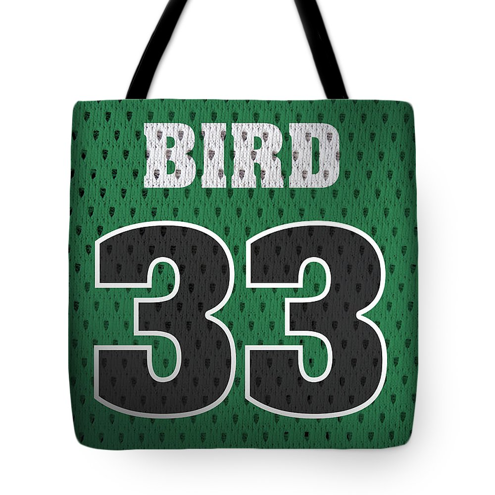 timeless design 87294 5029f Larry Bird Boston Celtics Retro Vintage Jersey Closeup Graphic Design Tote  Bag