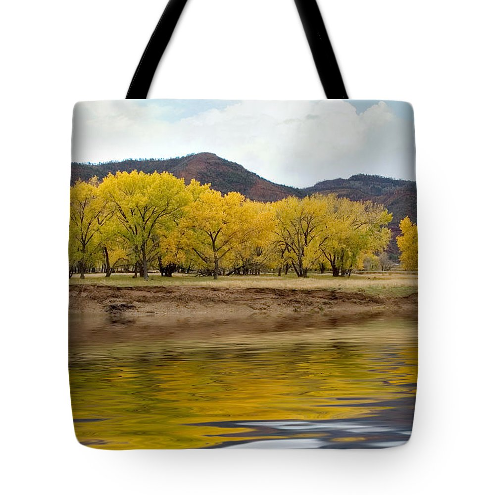River Tote Bag featuring the photograph Las Animas Fall by Jerry McElroy