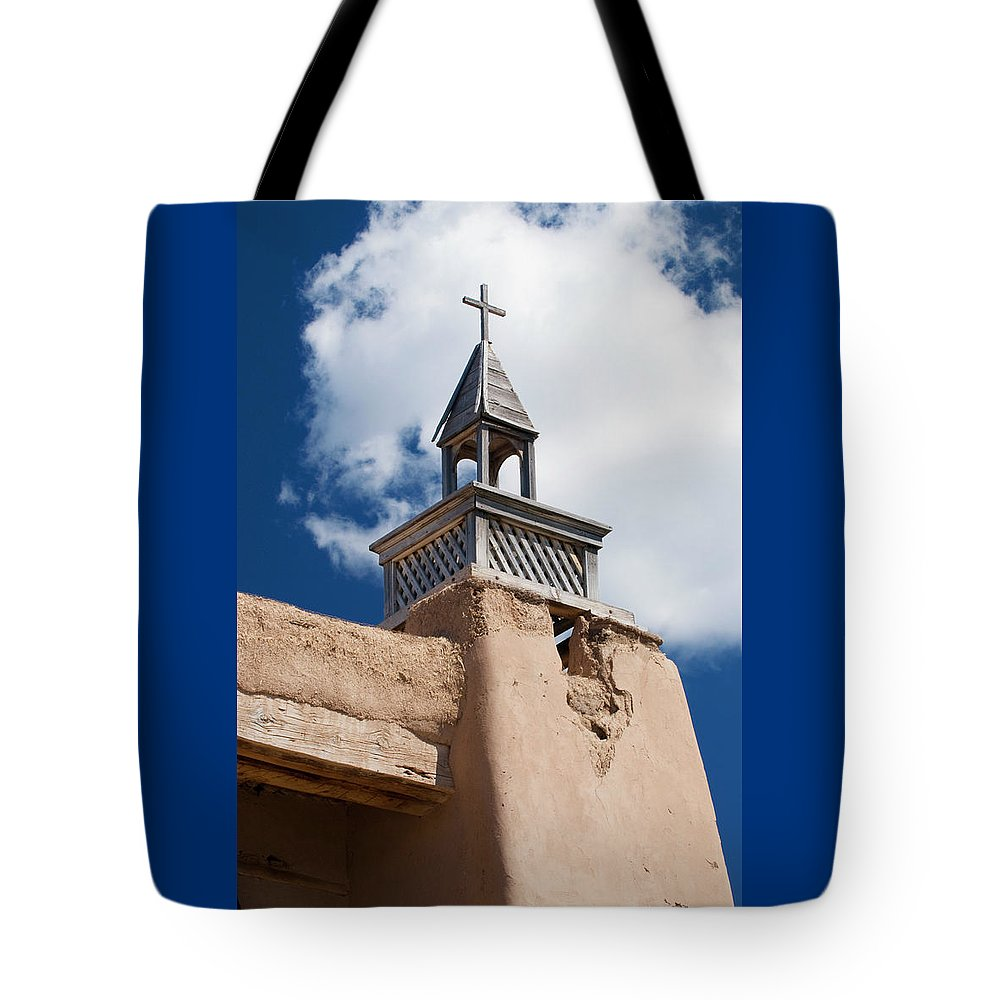 Southwest Tote Bag featuring the photograph Las Trampas Church by Jim Benest
