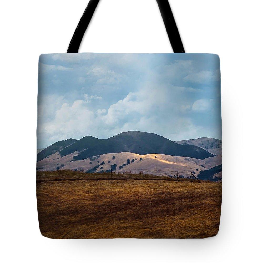 Las Trampas Tote Bag featuring the photograph Las Trampas Hills by Karen W Meyer