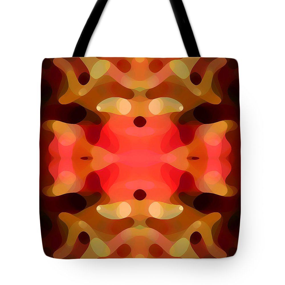 Abstract Painting Tote Bag featuring the digital art Las Tunas Abstract Pattern by Amy Vangsgard