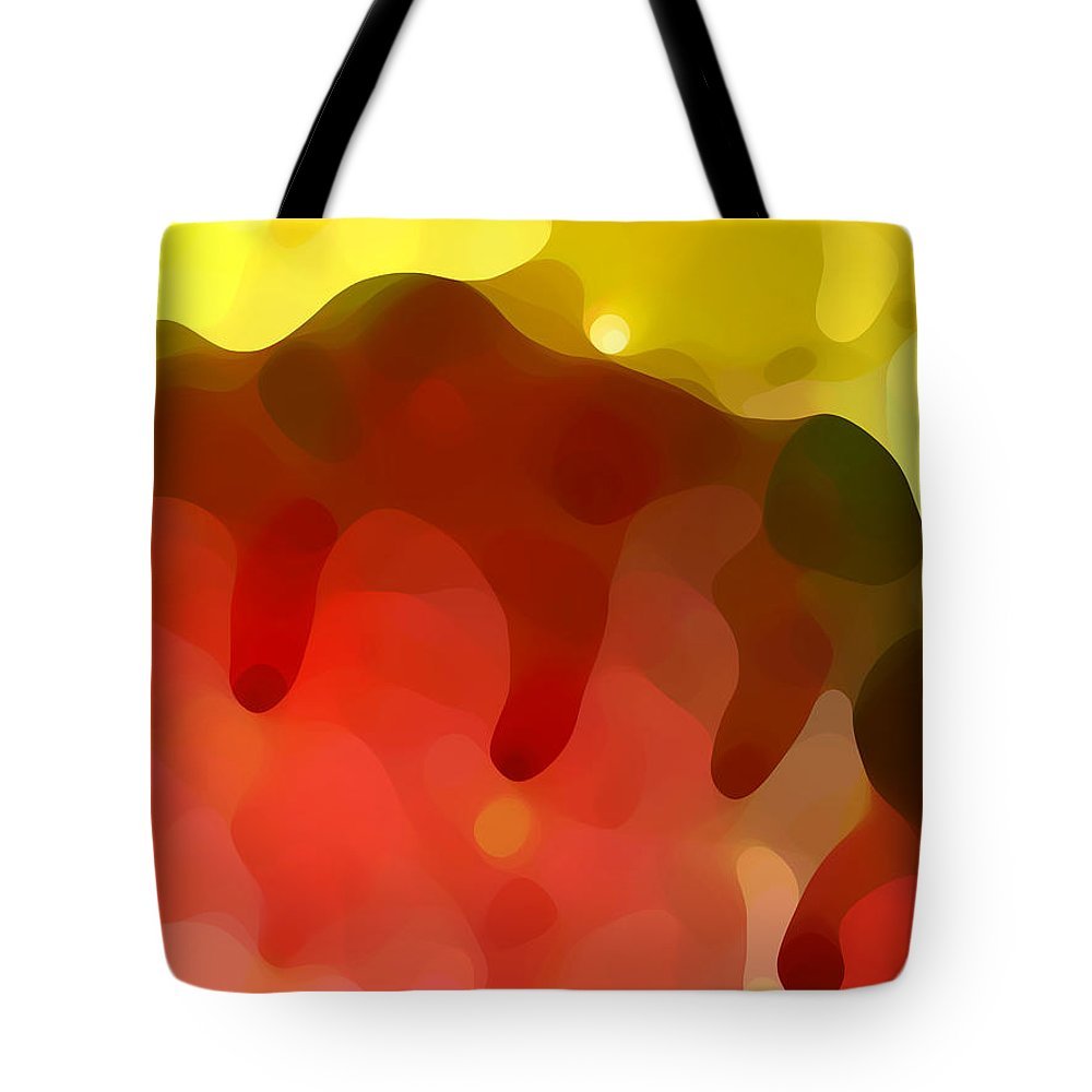 Abstract Tote Bag featuring the painting Las Tunas Ridge by Amy Vangsgard