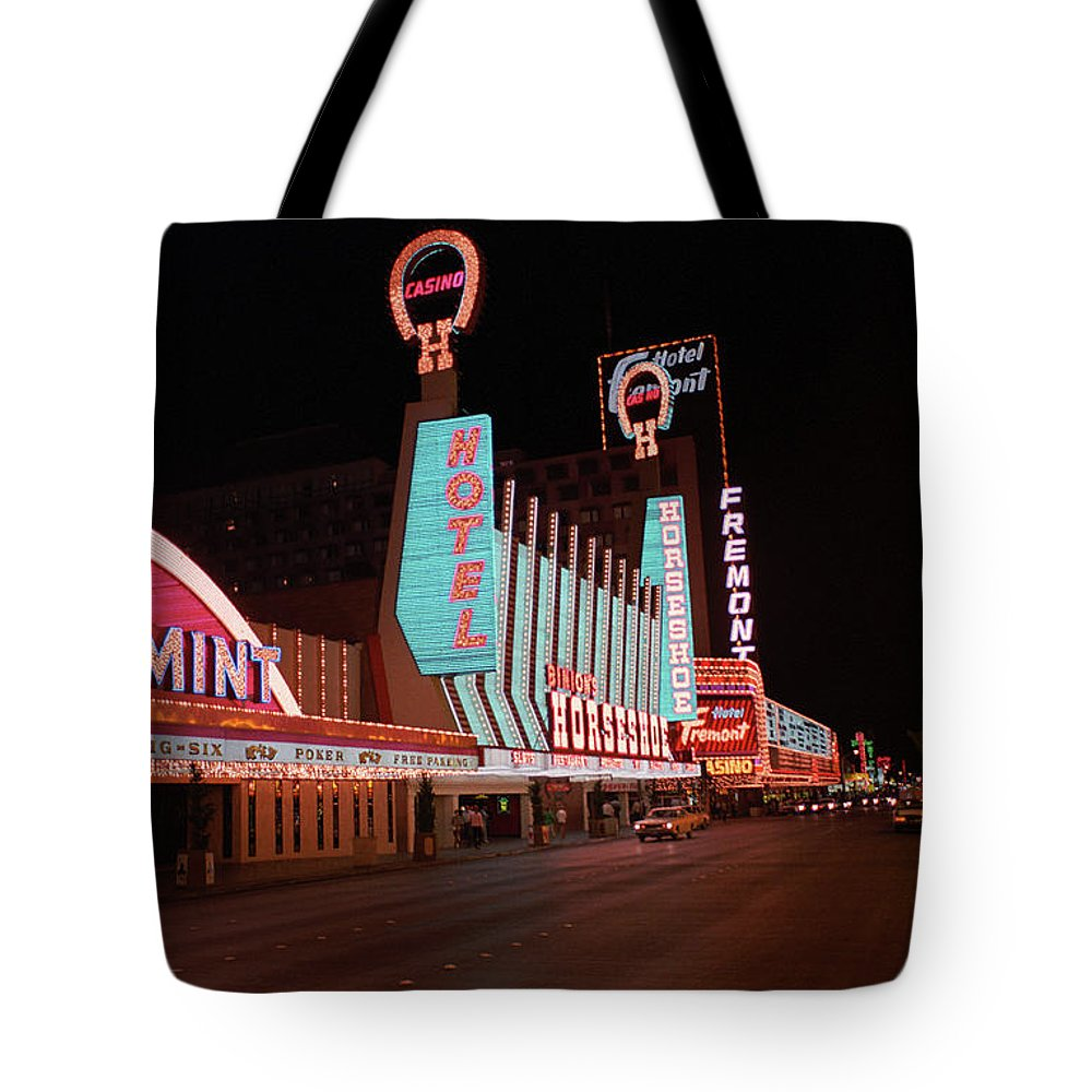Art Tote Bag featuring the photograph Las Vegas 1983 #4 by Frank Romeo