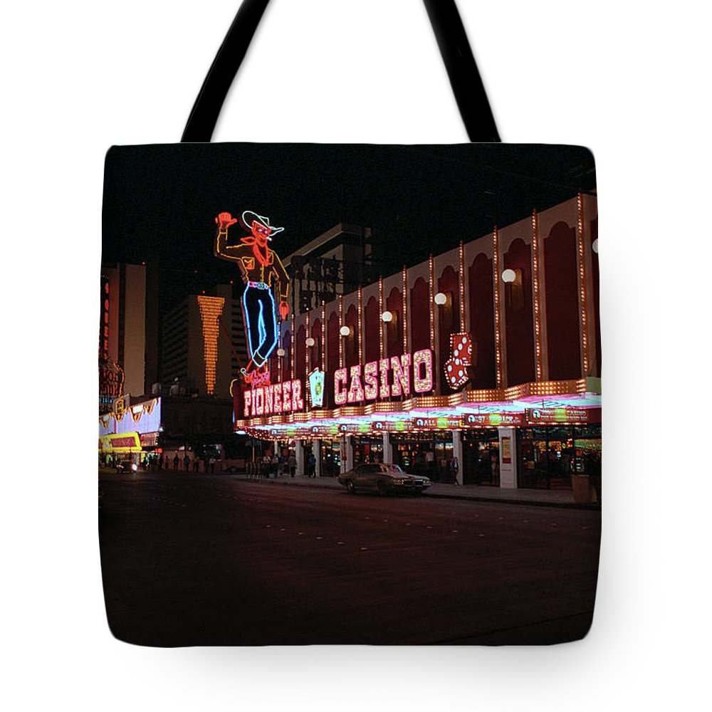 Art Tote Bag featuring the photograph Las Vegas 1983 #5 by Frank Romeo