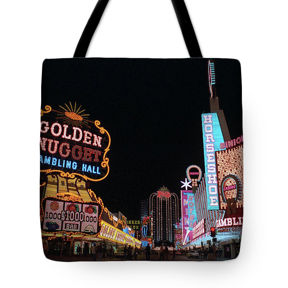 Art Tote Bag featuring the photograph Las Vegas 1983 #6 by Frank Romeo