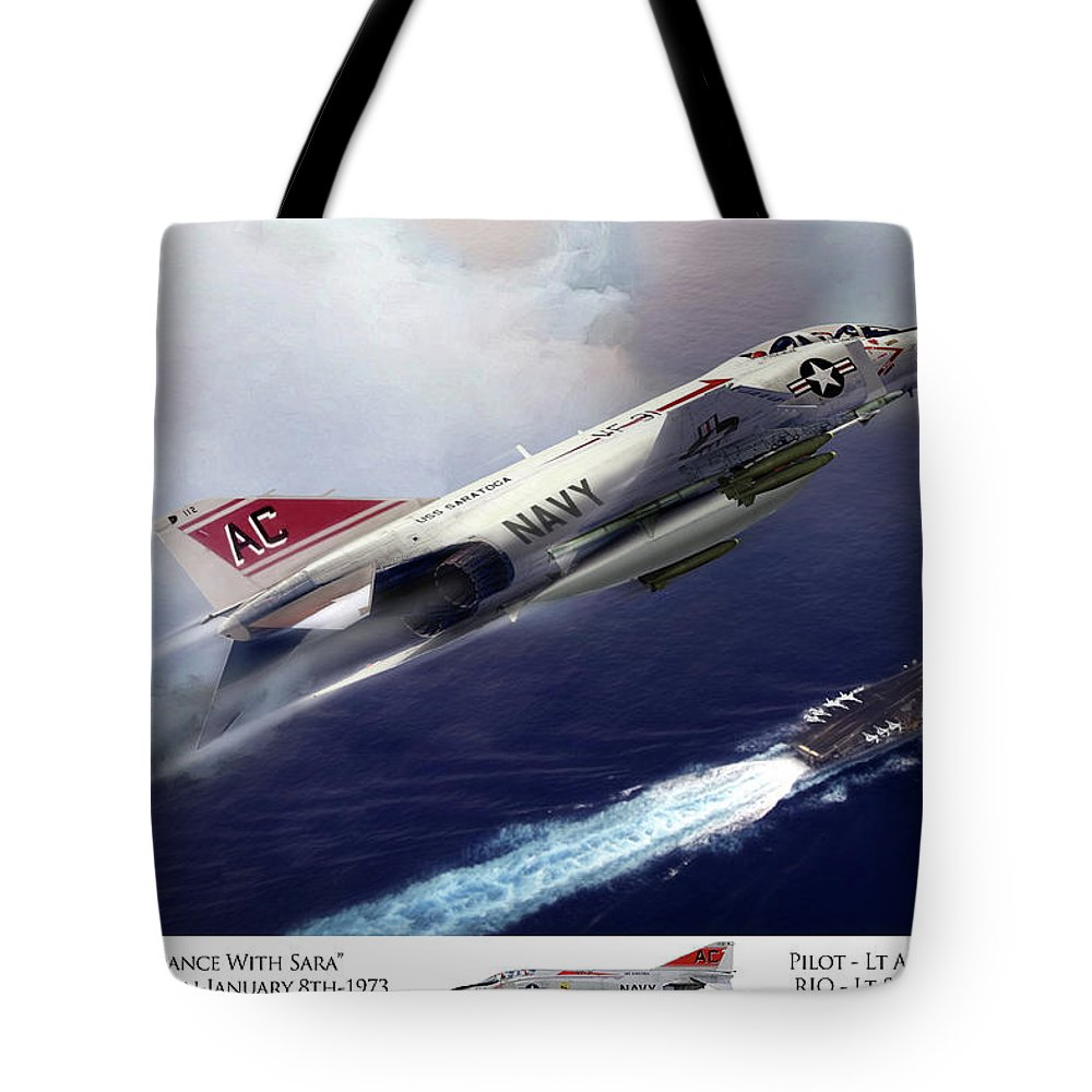 Aviation Tote Bag featuring the digital art Last Dance With Sara by Peter Chilelli
