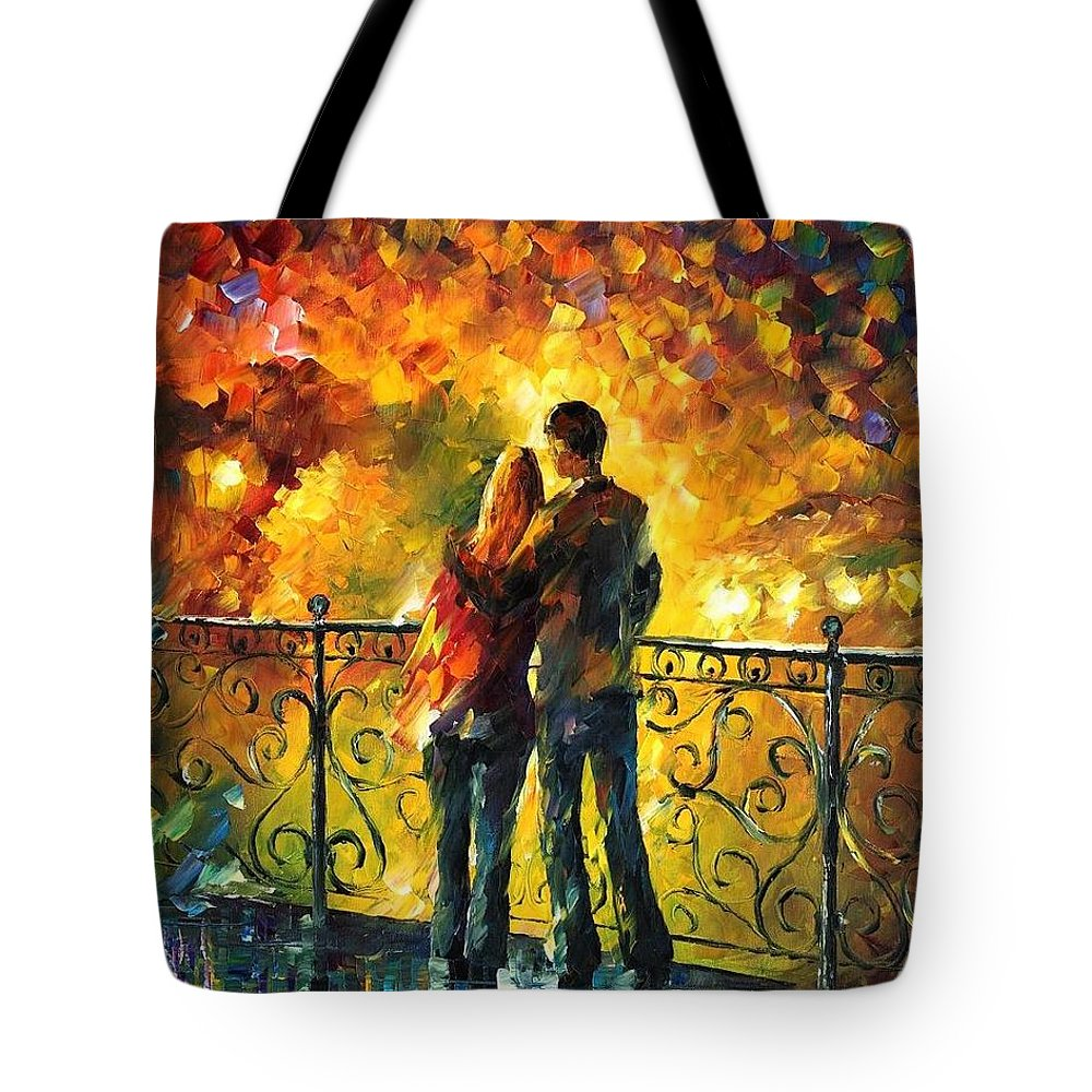 Afremov Tote Bag featuring the painting Last Date by Leonid Afremov