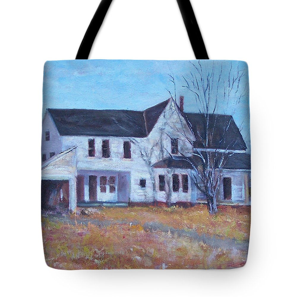 Victorian Tote Bag featuring the painting Last Day Standing by Alicia Drakiotes