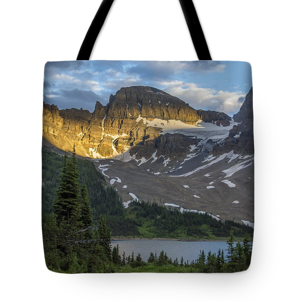 Alberta Tote Bag featuring the photograph Last Light At Assiniboine by Howie Garber