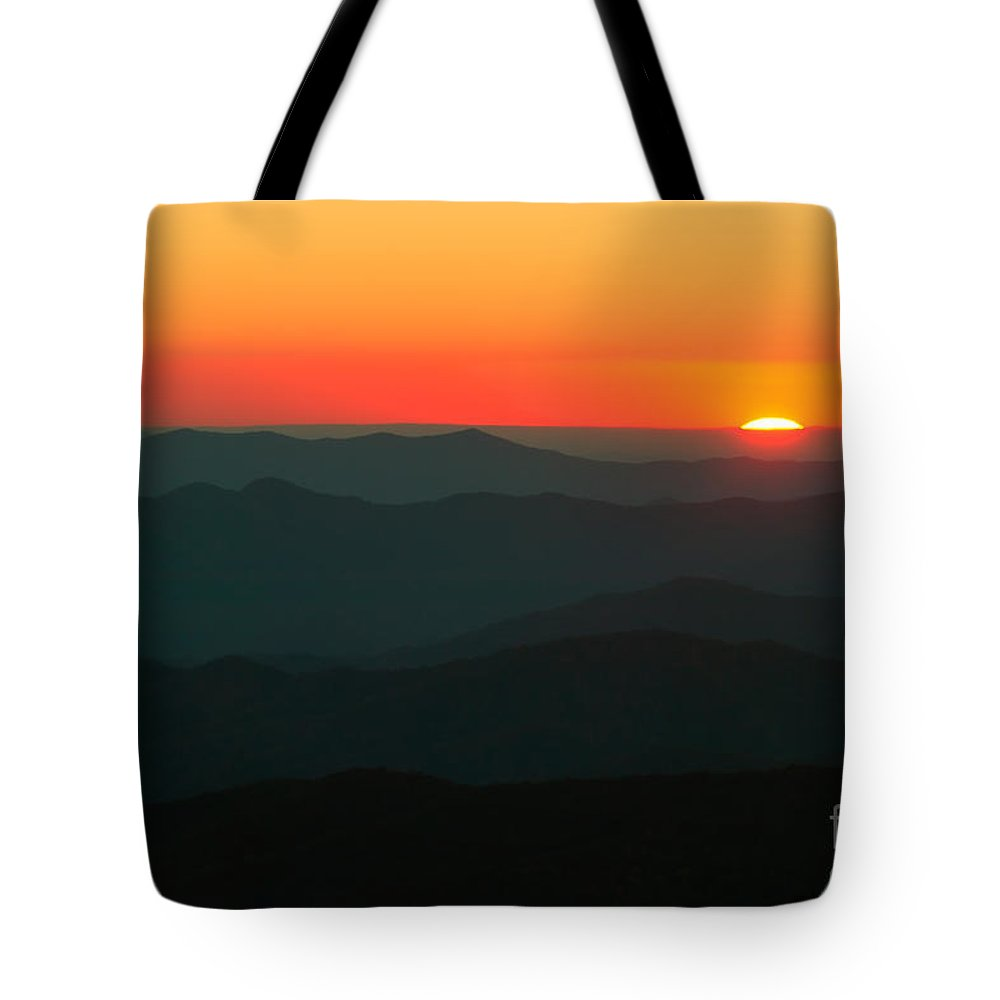 Clarence Holmes Tote Bag featuring the photograph Last Light From Clingmans Dome by Clarence Holmes