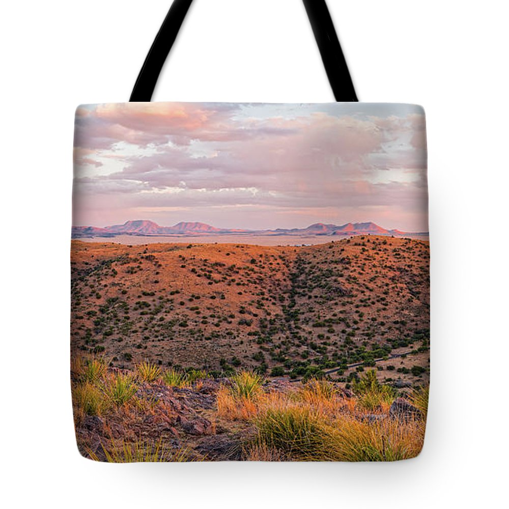 Davis Mountains Tote Bag featuring the photograph Last Light On The Landscape - Davis Mountains State Park And Faraway Chihuahua Desert - Fort Davis by Silvio Ligutti