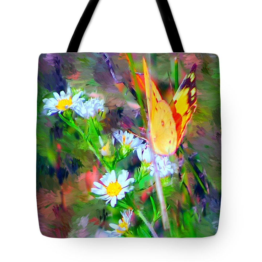 Landscape Tote Bag featuring the painting Last Of The Season by David Lane