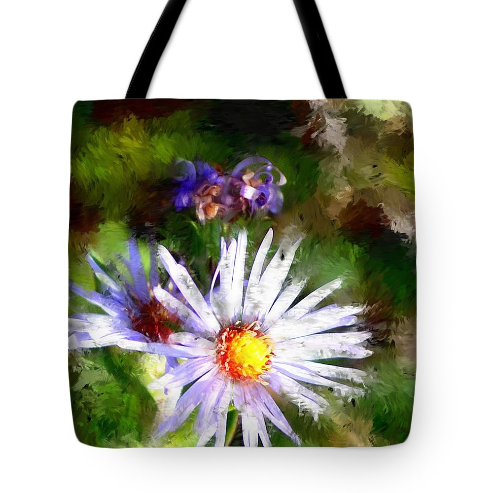 Flower Tote Bag featuring the photograph Last Rose Of Summer by David Lane