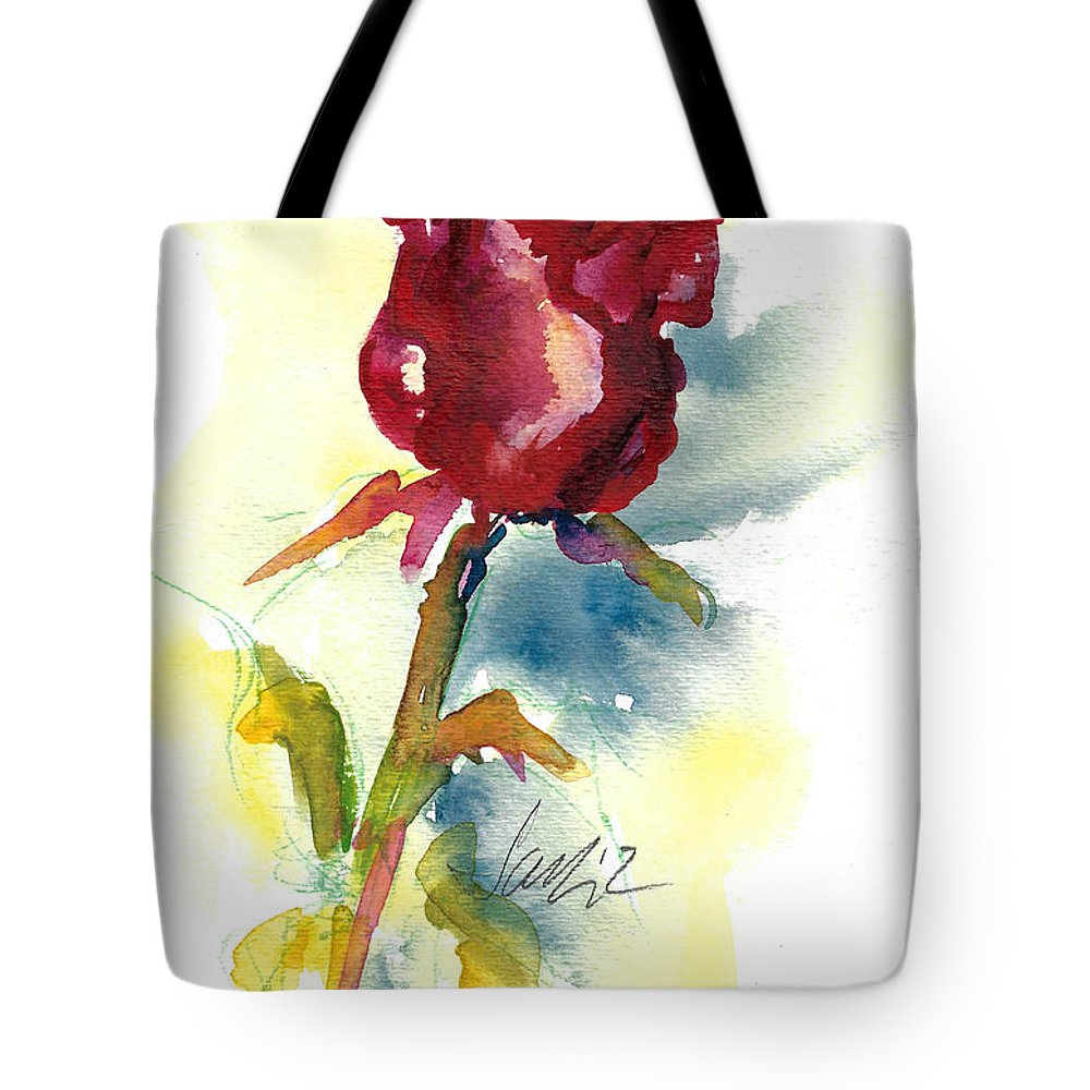 Rose Painting Tote Bag featuring the painting Last Rose Of Summer by Jacki Kellum