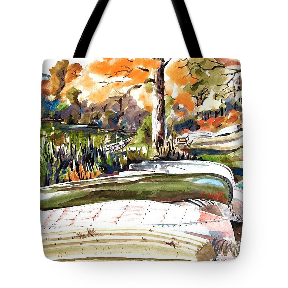 Last Summer In Brigadoon Tote Bag featuring the painting Last Summer In Brigadoon by Kip DeVore