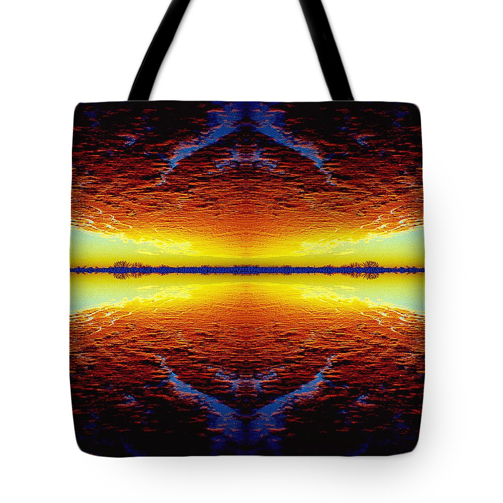 Sunset Tote Bag featuring the photograph Last Sunset by Nancy Mueller