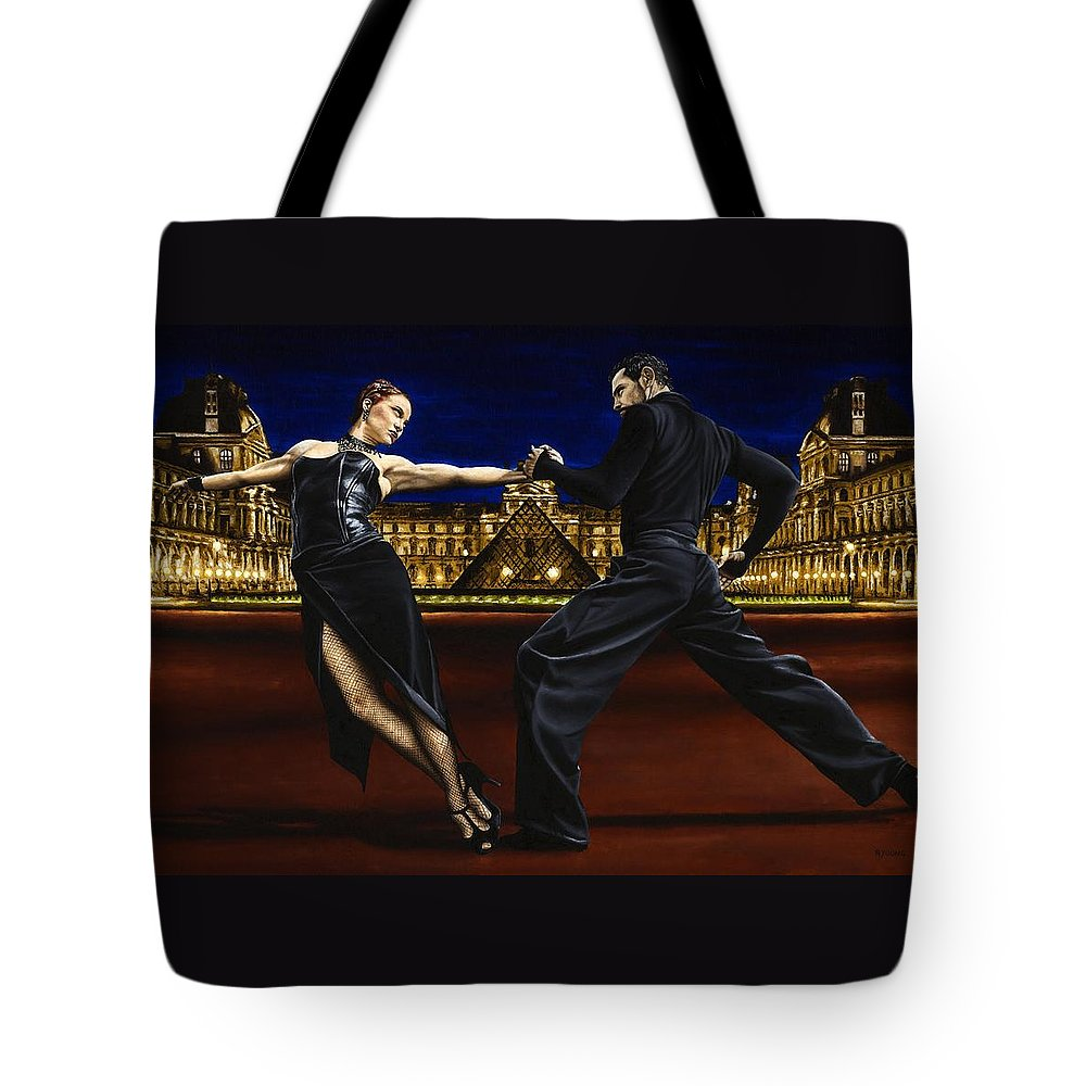 Tango Tote Bag featuring the painting Last Tango in Paris by Richard Young