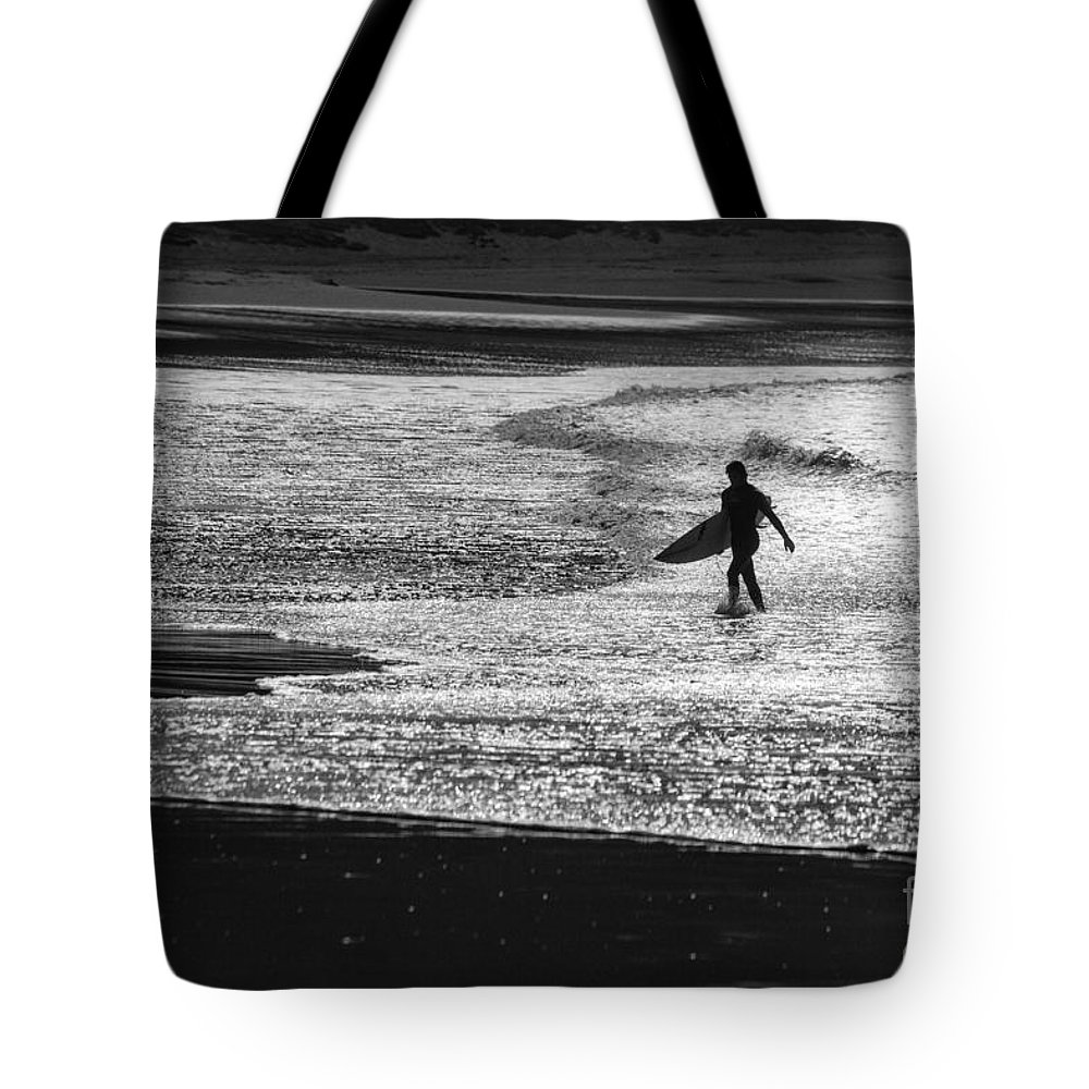 Surfer Tote Bag featuring the photograph Last wave by Sheila Smart Fine Art Photography
