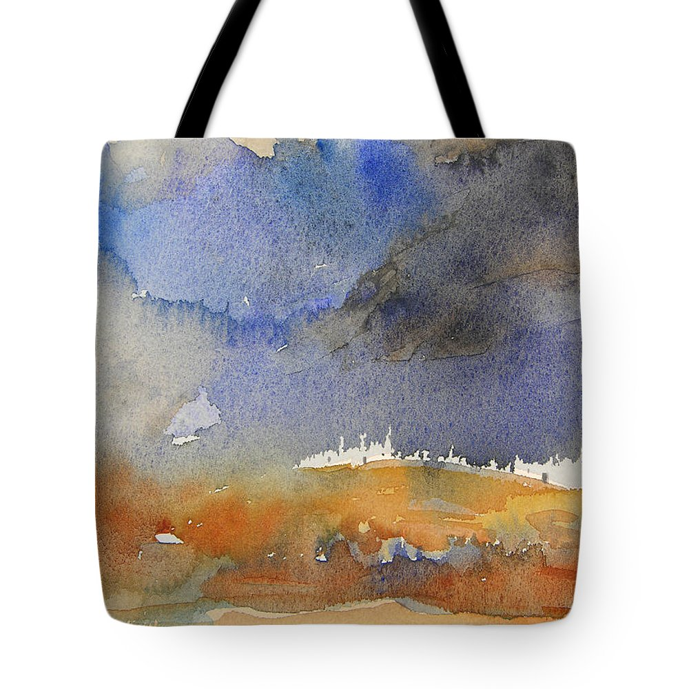 Watercolour Tote Bag featuring the painting Late Afternoon 10 by Miki De Goodaboom