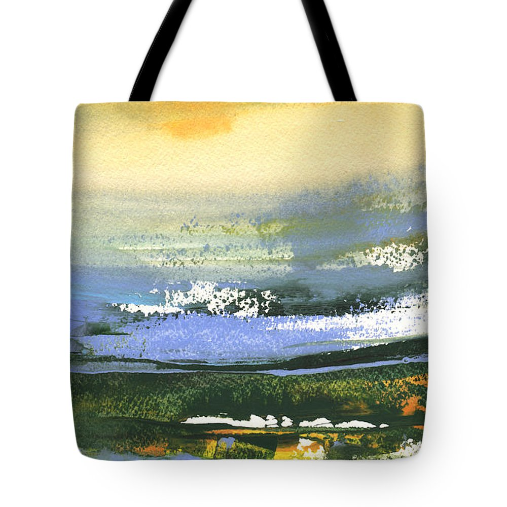 Nature Tote Bag featuring the painting Late Afternoon 33 by Miki De Goodaboom
