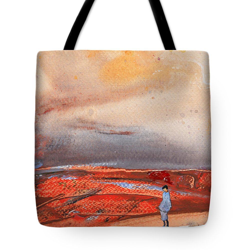 Landscapes Tote Bag featuring the painting Late Afternoon 34 by Miki De Goodaboom