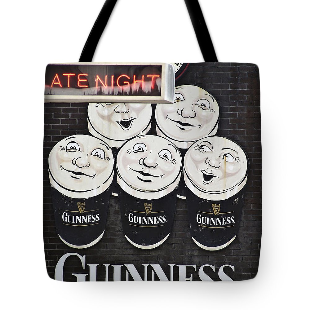 Guinness Tote Bag featuring the photograph Late Night Guinness Limerick Ireland by Teresa Mucha
