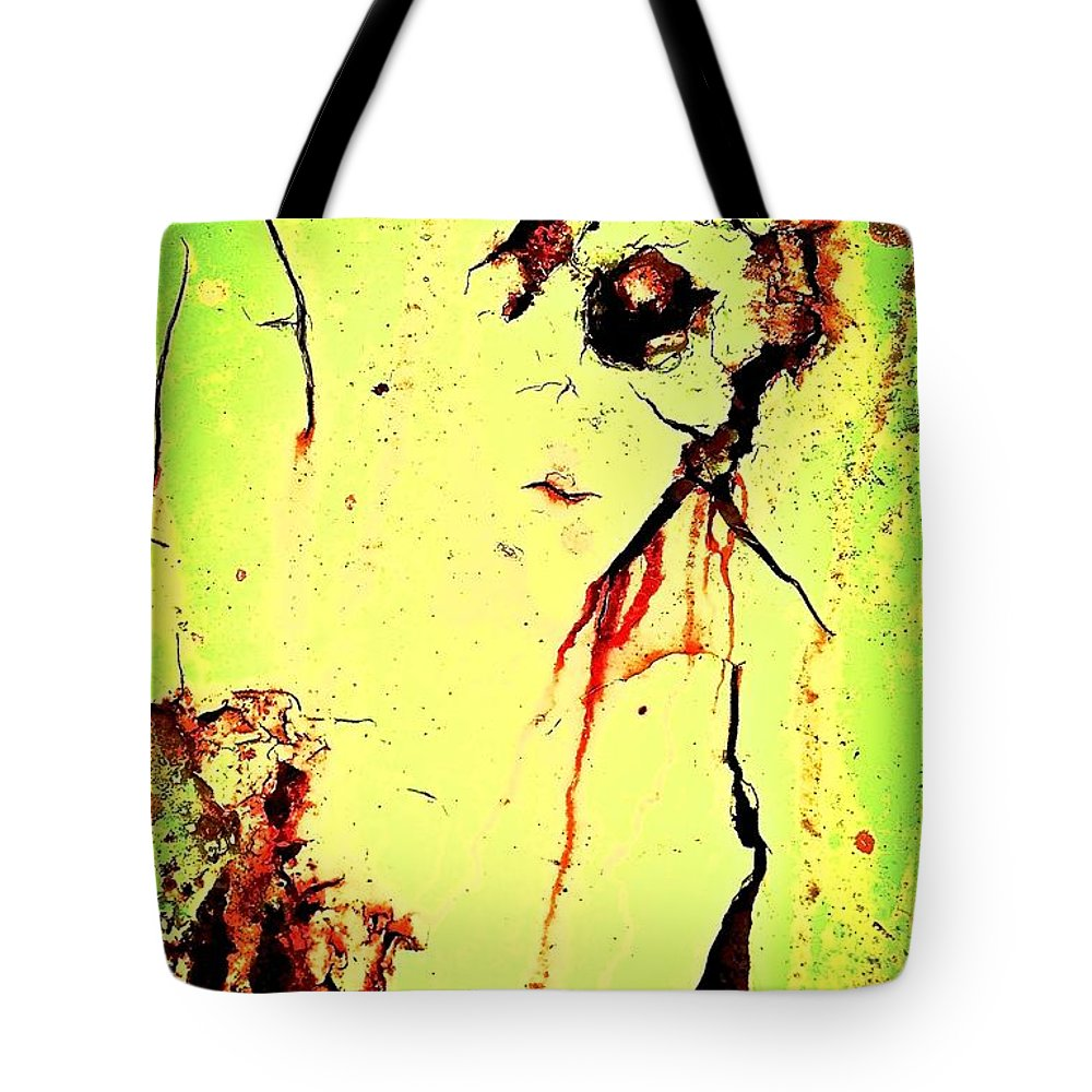 Abstract Art Tote Bag featuring the photograph Bar Talk With Bela by David Coleman