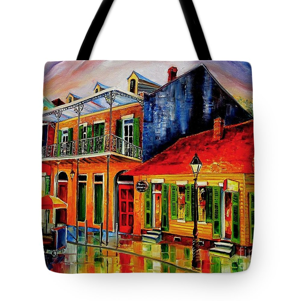 New Orleans Tote Bag featuring the painting Late On Bourbon Street by Diane Millsap