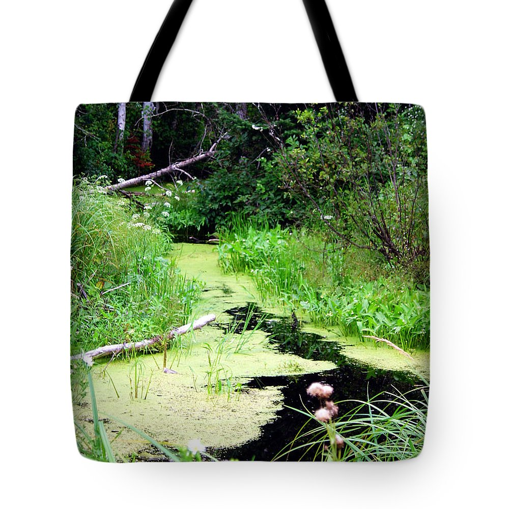 Pine Falls Manitoba Creek Water Tote Bag featuring the photograph Late Summer At The Creek by Joanne Smoley