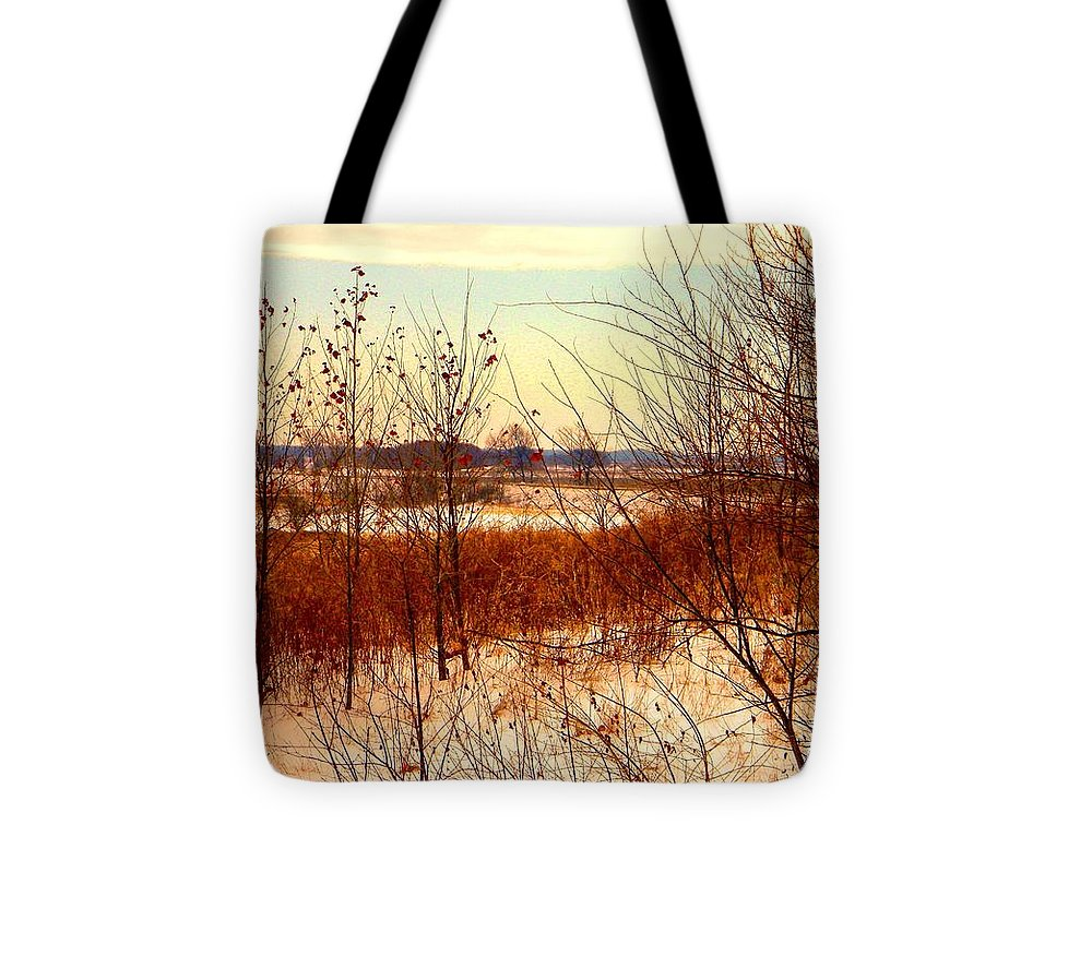 Winter Tote Bag featuring the photograph Late Winter at Emiquon by Helen ONeal