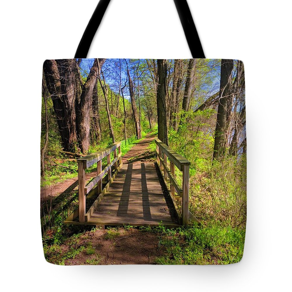 Landscape Tote Bag featuring the photograph Lattice Shadows by Paul Kercher