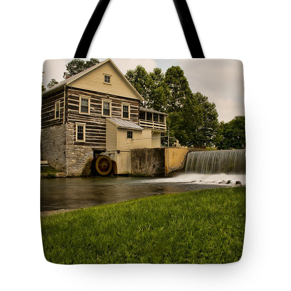 Laughlin Mill Tote Bag featuring the photograph Laughlin Mill by Kristia Adams