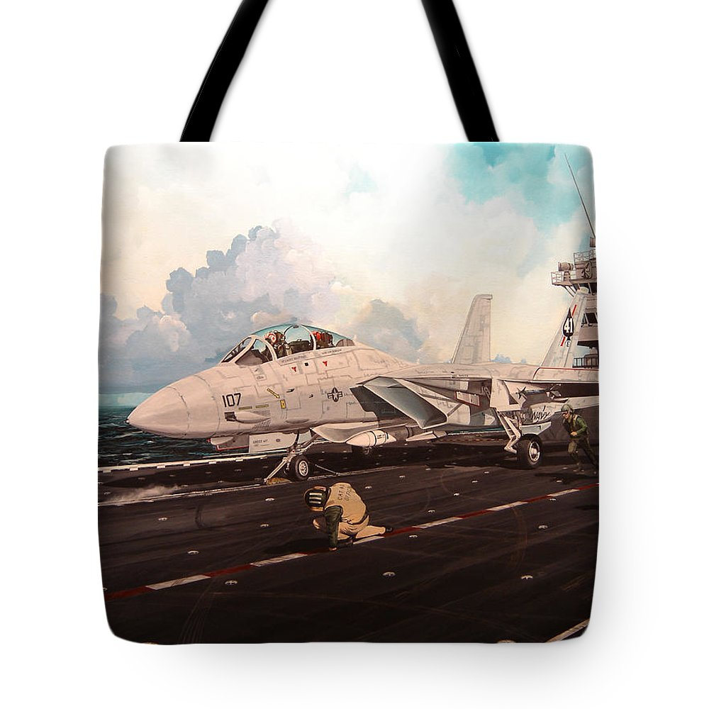 Military Tote Bag featuring the painting Launch The Alert 5 by Marc Stewart