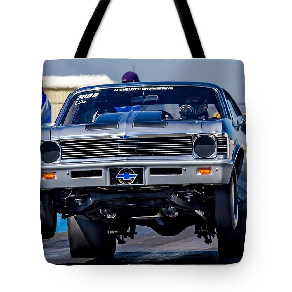 Automobile Tote Bag featuring the photograph Launching Nova by Bill Gallagher