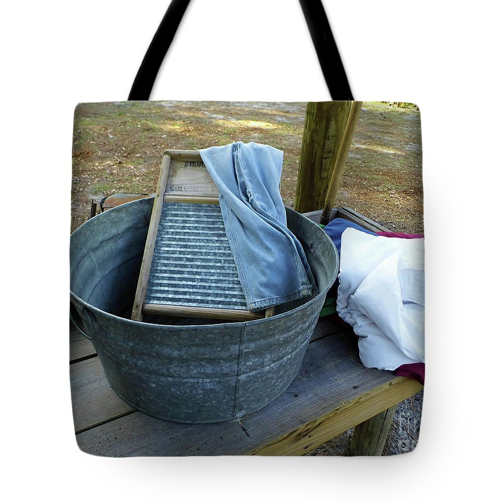 Tub Tote Bag featuring the photograph Laundry Day by D Hackett