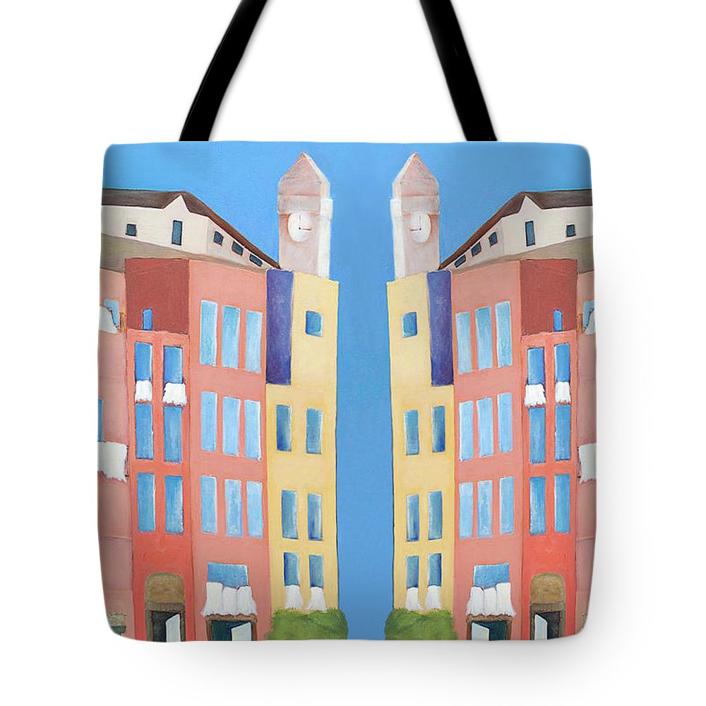 Architecture Tote Bag featuring the tapestry - textile Laundry Day by Rac Original Designs