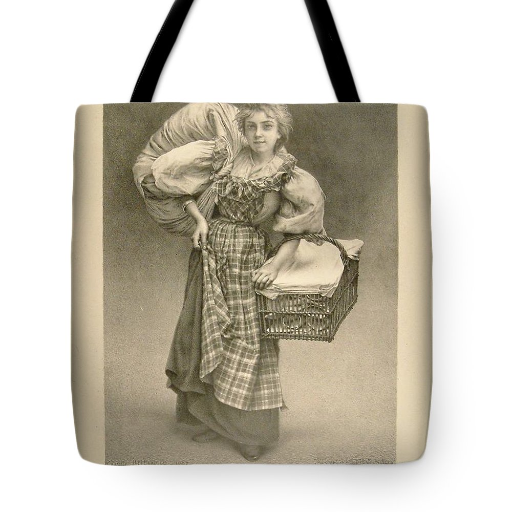 Camille Bellanger Tote Bag featuring the painting Laundry Delivery by Celestial Images