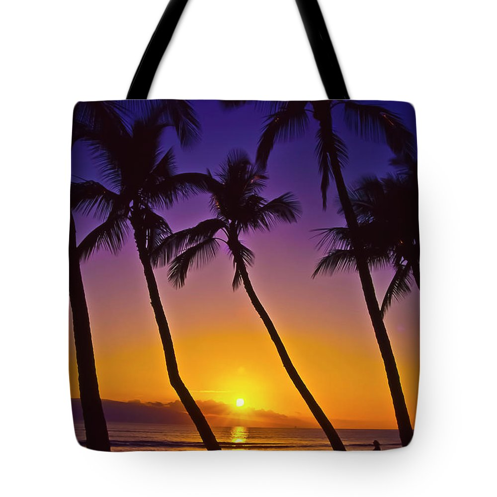 Sunset Tote Bag featuring the photograph Launiupoko Sunset by Jim Cazel