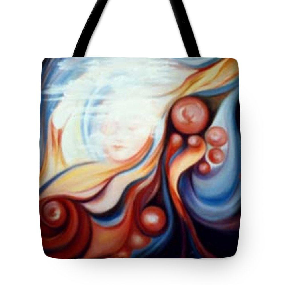 Surreal Tote Bag featuring the painting Laura by Jordana Sands