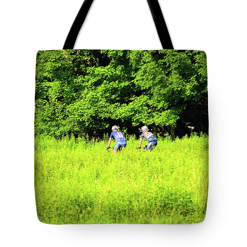 Country Tote Bag featuring the photograph Laurel Hill Park Road by Shelley Smith