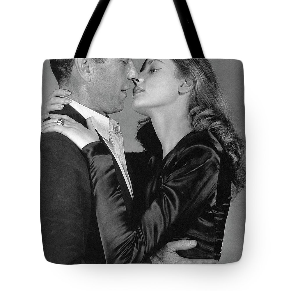 Lauren Bacall Humphrey Bogart To Have And Have Not 1944 Tote Bag featuring the photograph Lauren Bacall Humphrey Bogart To Have And Have Not 1944 by David Lee Guss