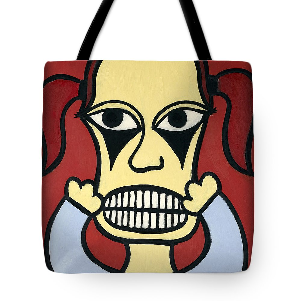 Girl Tote Bag featuring the painting Laurie by Thomas Valentine