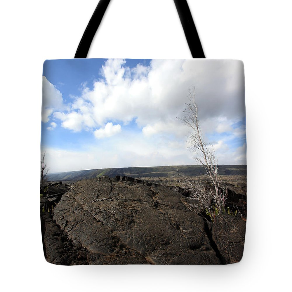 Lava Tote Bag featuring the photograph Lava Field by Mary Haber