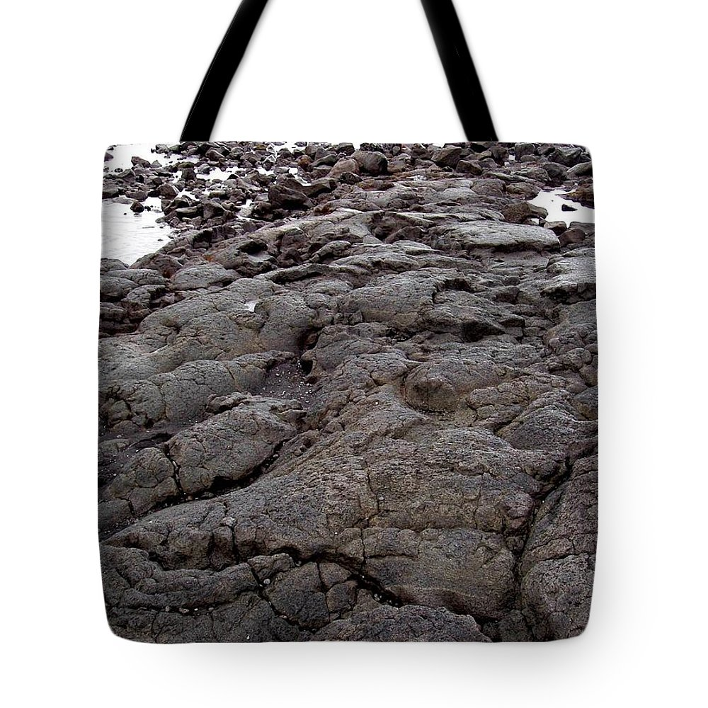 Lava Tote Bag featuring the photograph Lava Rock Island by Deborah Crew-Johnson