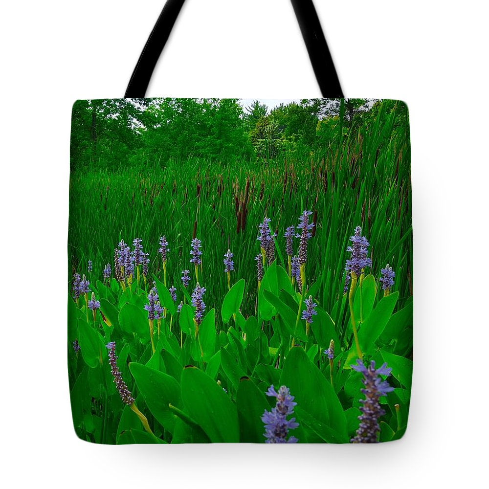 Flower Tote Bag featuring the photograph Lavander by Ric Schafer