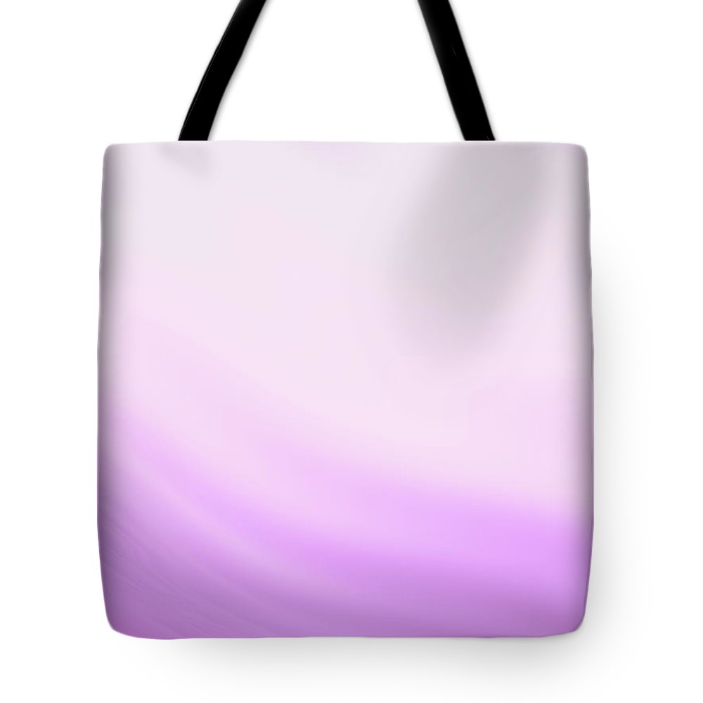 Abstract Tote Bag featuring the digital art Lavender And Pink Waves by Rich Leighton