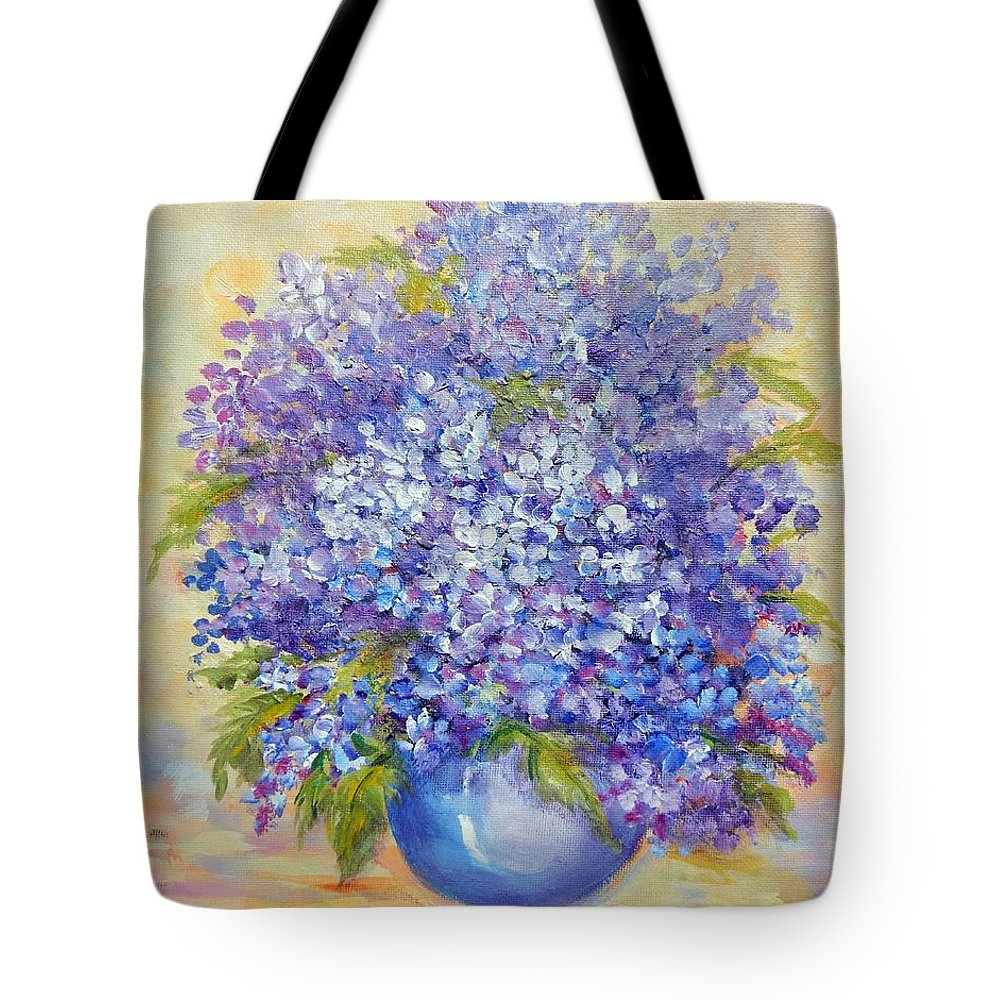 Plants Tote Bag featuring the painting Lavender by Caroline Patrick
