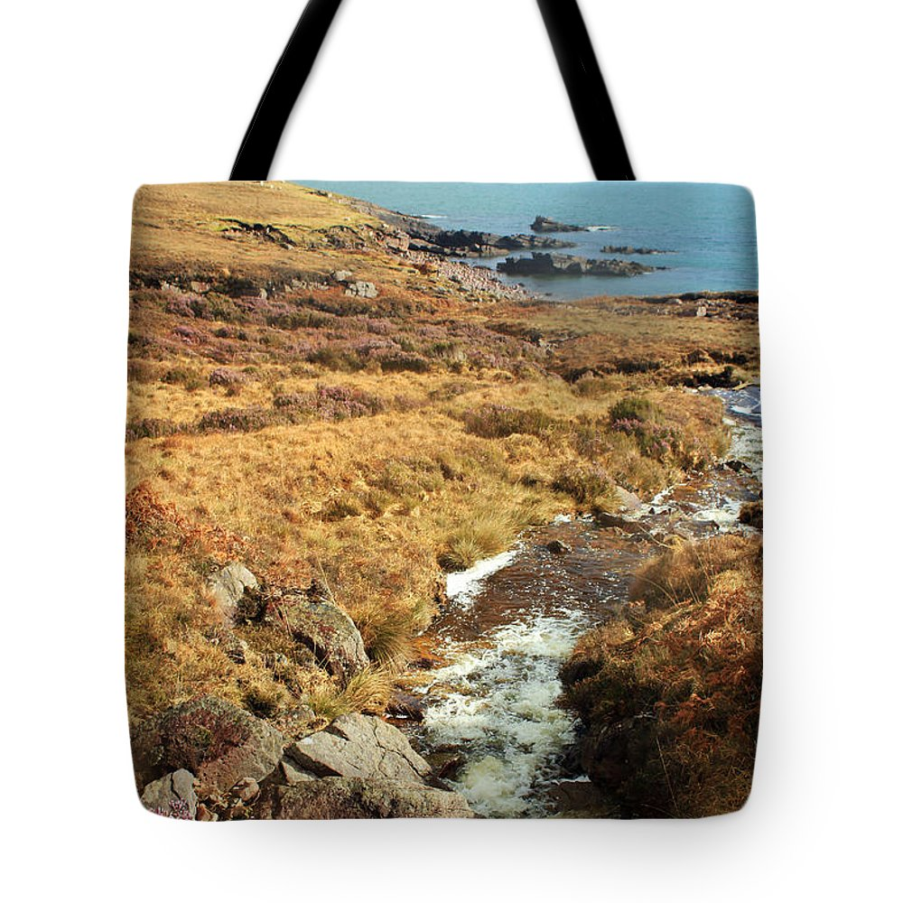 Creek Tote Bag featuring the photograph Lavender Flowers by Jennifer Robin